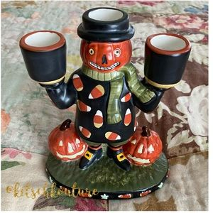 Yankee Candle Candy Corn Pumpkin Candle Holder